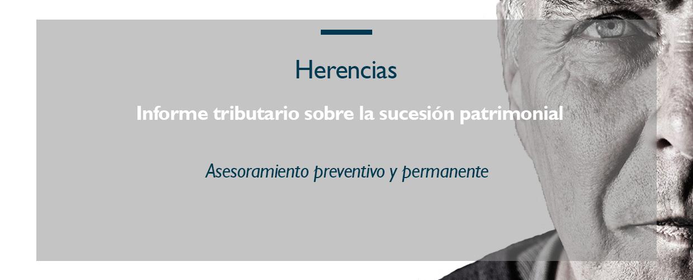 Escoem, Informe tributario sobre la sucesión patrimonial, asesoramiento preventivo herencias.