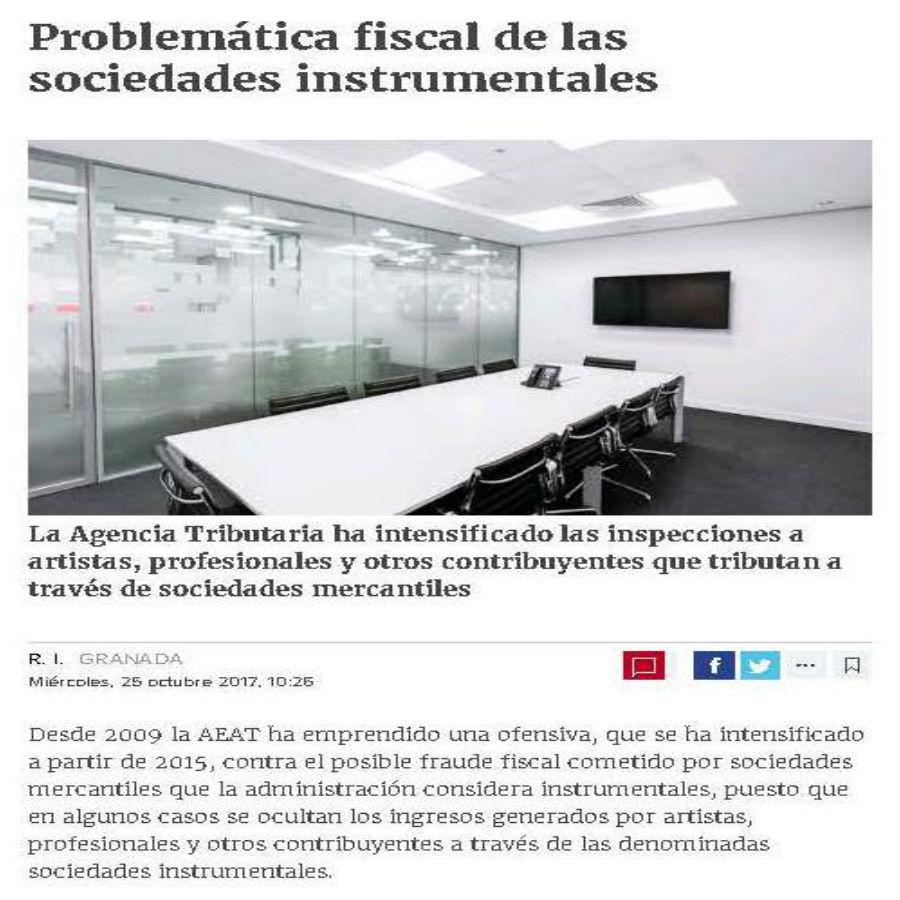 Problemática fiscal de las sociedades instrumentales