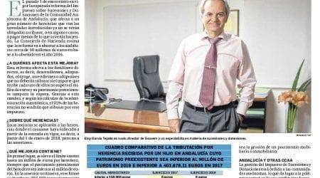 Reforma fiscal del Impuesto sobre Sucesiones y Donaciones en Andalucía