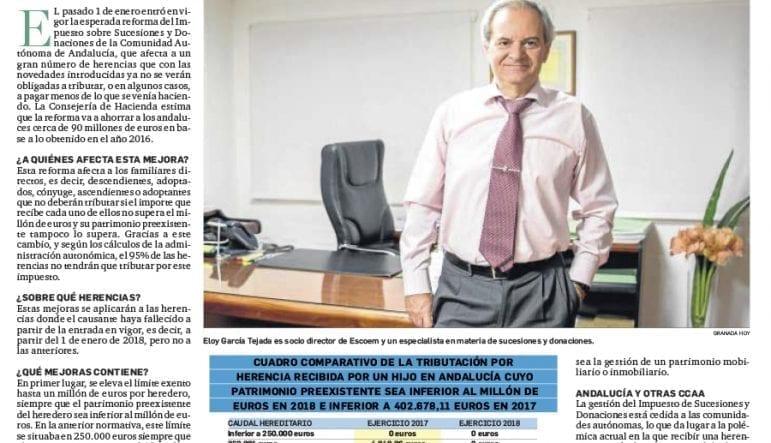 reforma fiscal herencias donaciones andalucia 2018