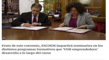 Escoem firma un convenio de colaboración con la Universidad de Granada