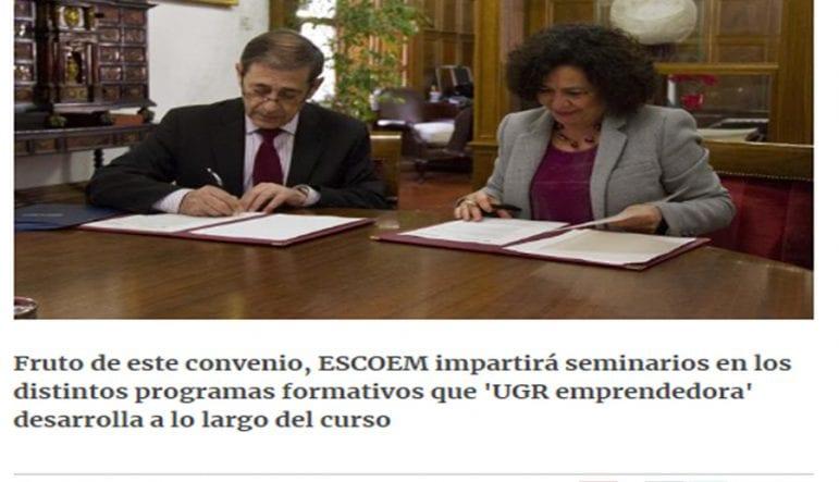 escoem firma convenio universidad de granada