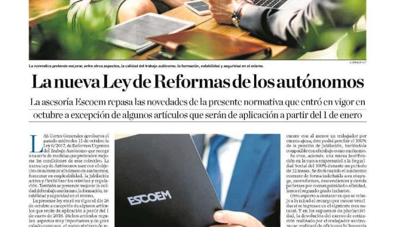 nueva normativa autonomos 2018