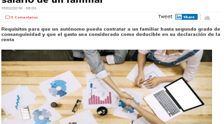 autonomo deduccion salario familiar