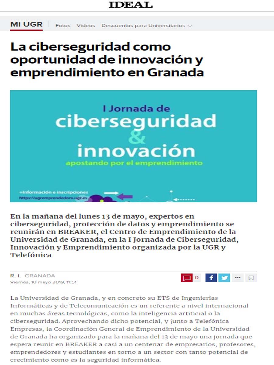 Jornada de ciberseguridad e innovación en Granada
